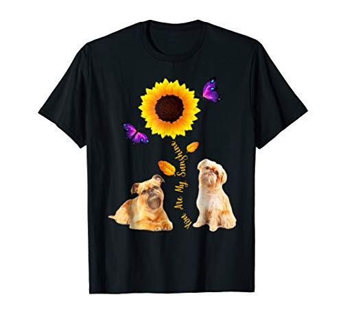 BRUSSELS GRIFFON You Are My Sunshine Sunflower Lover Tshirts (Brussels Griffon Best In Show)