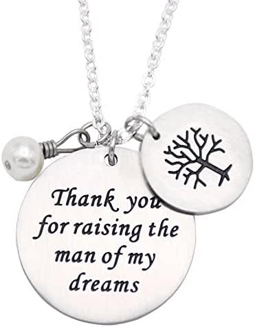 Mother In Law Gift Thank You For Raising The Man / I Will Take Care Of Her Always Necklaces