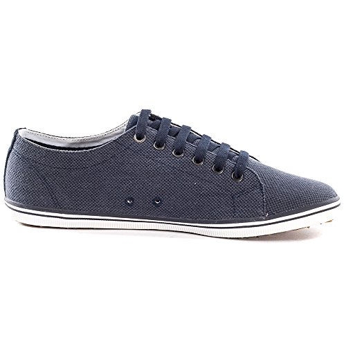 Fred Perry Kingston Heavy two tone canvas navy B8240608, Baskets Mode Homme