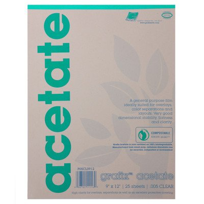 12 X 12 Acetate - Acetate Film Sheets (Set of 25) Size: 17