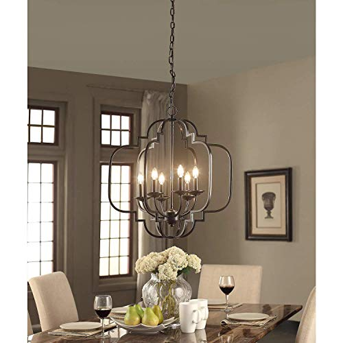 Farmhouse Chandeliers For Dining Room: Modern Farmhouse Chandelier Suitable For Dining Rooms And