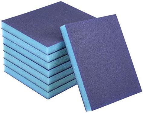 sanding sponge sanding blocks 180 medium grain sand grains for metal block 8 pieces
