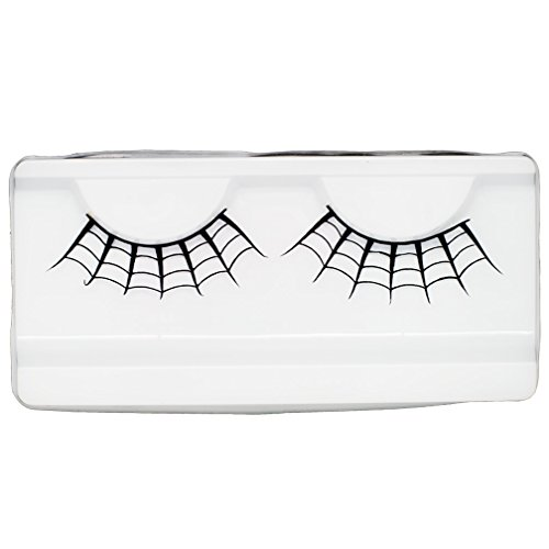 Emilystores Spider Web Crown Halloween Costume Fancy Fashion Party Look Black Paper Lashes False Eyelashes 1 -
