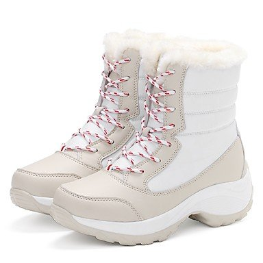 Flat Blue Flat Boot Winter Women's Fabric Outdoor Casual Heel Red Boot Boot red Black amp;xuezi Fashion Fluff Gll Lining White Snow OzZxYSq