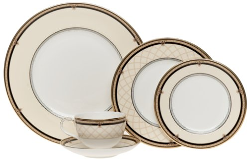 Amazon.com | Royal Doulton Baroness 5-Piece Dinnerware Place Setting Service for 1 Dinnerware Sets  sc 1 st  Amazon.com & Amazon.com | Royal Doulton Baroness 5-Piece Dinnerware Place Setting ...