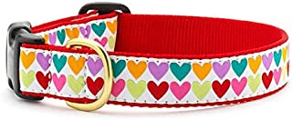 product image for Up Country Heart and Valentine Patterns Dog Collars and Leashes (Pop Hearts Dog Collar, X-Small (6 to 12 Inches) 5/8 Inch Narrow Width)