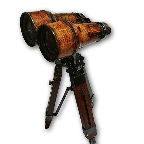 (Global Art World Nautical 1940 Brass Antique Royal Navy London Marine Décor Stand Binocular Telescope Monocular's TC 050)