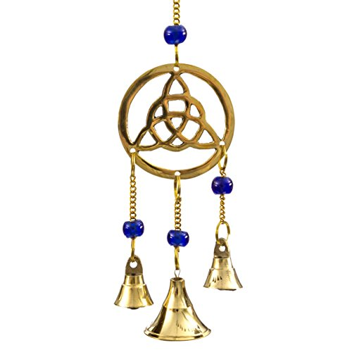 Alternative Imagination Triquetra Brass Wind Chimes with Bells ()