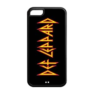 Def Leppard Super Fit iPhone 5c Cases Solid Rubber Customized Cover Case for iPhone 5c 5c-linda1212