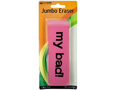 Jumbo Pink Eraser - Pack of 96 by bulk buys