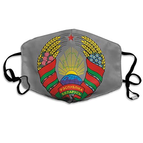 - SyjTZmopre Coat of Arms of Belarus Logo Mouth Mask Unisex Printed Fashion Face Anti-dust Masks