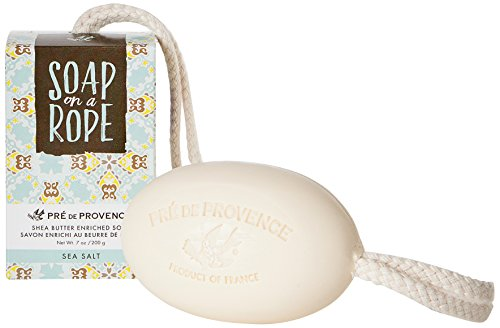 Provence Natural Soap - Pre de Provence Soap On a Rope, Sea Salt, 200 Gram