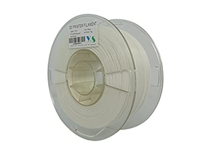 YS YS-PLA-W-1.75-1.0 PLA Filament, Compatible with Makerbot/UP/Afinia/Robo 3D printer, 1.75 mm 1kg, White