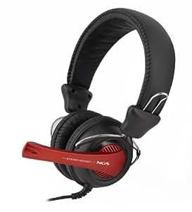 NGS VOX 360 DJ - Auriculares de diadema cerrados para DJ, negro