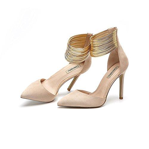 de04a37c546 30% de descuento GAIHU Zapatos 8.5cm, 10,5cm Color Nude de Europa y ...