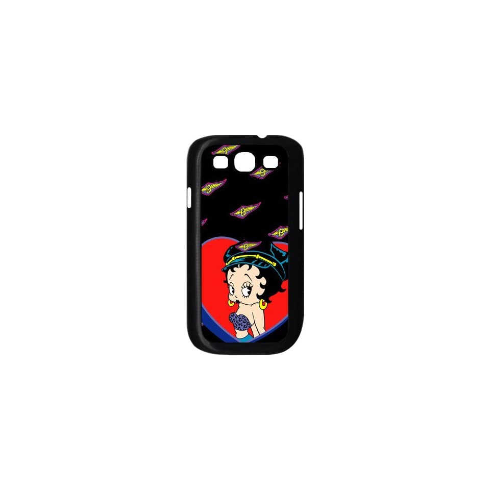 Betty Boop Samsung Galaxy S3 I9300/I9308/I939 Case Cartoon Star Top Cases Cover Black Sides