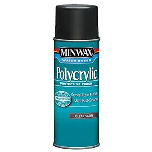 Minwax 33333000 Water-Based Polycrylic Clear Spray, 11.5 ounce Aerosol, Satin