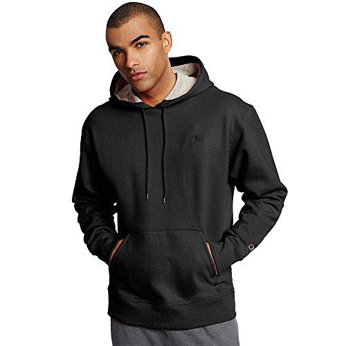 Champion Men's Powerblend Pullover Hoodie, Black, Large