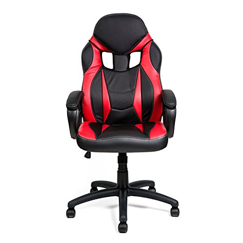 HULLR Gaming Racing Computer Office Chair (Black/Red) HÜLLR
