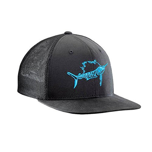 Flying Fisherman Cap (Flying Fisherman Sailfish Fitted Trucker Hat, Black, Large/X-Large)