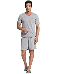 Men's Casual Wear Cotton Short Pajama Set Tshirt and Pants