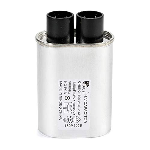 Microwave Oven High Voltage Capacitor 2100 VAC 1.00 MFD uF Universal Compatible and Replace for GE Samsung LG Media Hair Amana Kenmore Mayta and Whirlpool