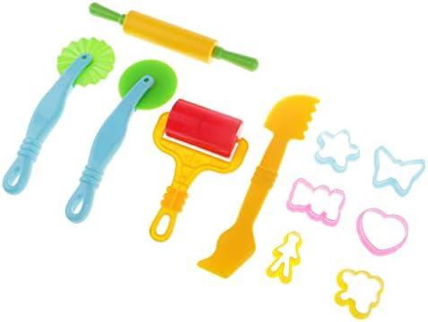 約11個 子供 プラスチック 粘土ツール カッター 金型 モデリングツール 知育玩具 陶芸工具 手芸
