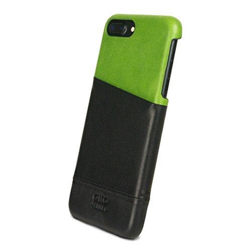 alto Handmade Premium Italian Leather Wallet Case for Apple iPhone 8 Plus / iPhone 7 Plus Metro (Lemon/Raven) by Alto (Image #2)