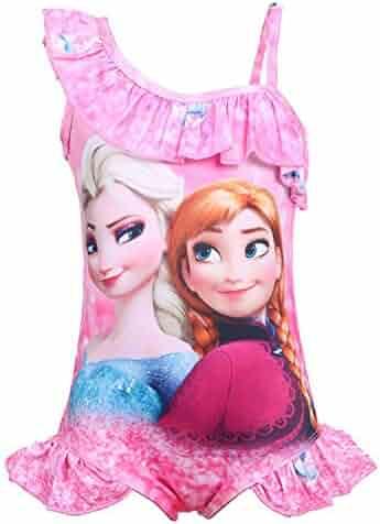 fce4b61f048cd Pnfly Girls Frozen One-Piece Bathing Suit Swimwear Swimsuit