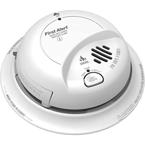 (First Alert BRK SC9120LBL Hardwire AC Smoke and Carbon Monoxide Combination Alarm with 10 Year Sealed Battery Backup )