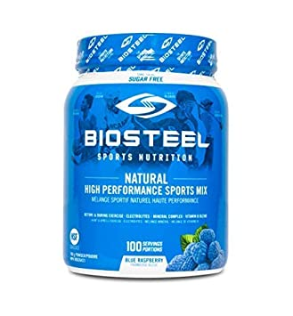 Biosteel High Performance Sports Drink Powder, Naturally Sweetened with Stevia, Blue Raspberry, 700 Gram