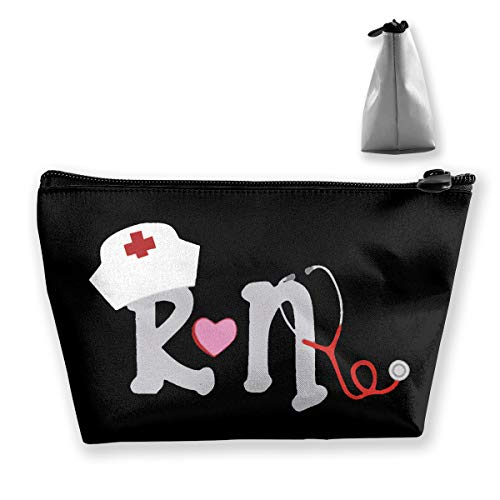 (Jonathan Sidney RN Nurse With Nurse Hat And Stethoscope Cosmetic Bag Travel Toiletry Pouch Makeup With Zipper)