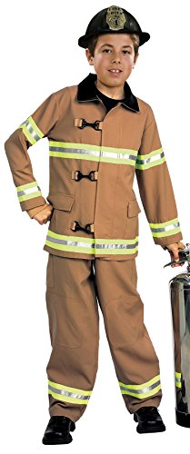 Young Heroes Child's Fire Fighter Costume, Medium