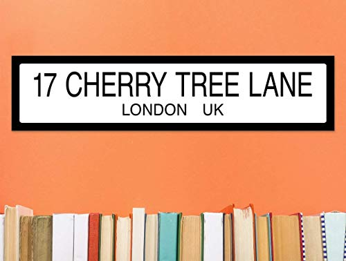 Cherry Tree Lane Mary Poppins Literary Street Sign. Fine Art Paper or Laminated. Available for Home, Office, or School.