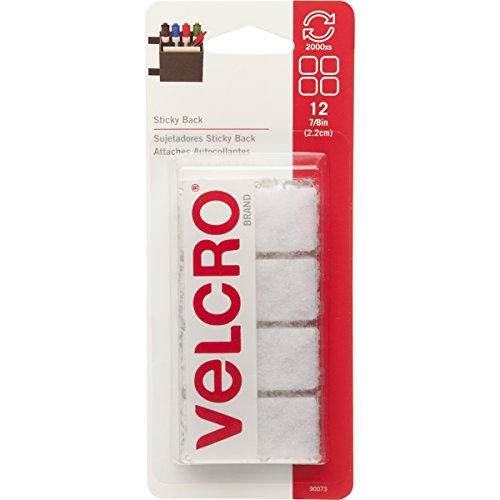 "075967900731 - VELCRO Brand - Sticky Back - 7/8"" Squares, 12 Sets - White carousel main 0"