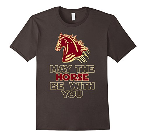 Men's May The Horse Be With You Funny Horse Trojan T Shirt 2XL Asphalt