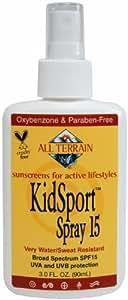 All Terrain KidSport SPF15 Oxybenzone-Free Natural Sunscreen Spray (3-Ounce)