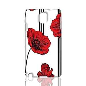 Poppy Wallpaper 3D Rough Case Skin, fashion design image custom, durable hard 3D case cover, Case New Design for Samsung Galaxy Note 3 , By Codystore