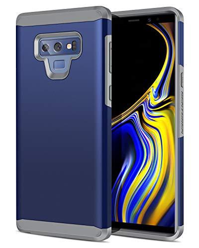 Samsung Galaxy Note 9 Case, BENTOBEN 2 in 1 Slim Rugged Hybrid Hard PC Soft TPU Bumper Shockproof Heavy Duty Protective Samsung Note 9 Phone Case Cover for Boys,Men,Women,Girls,Navy Blue/Gray