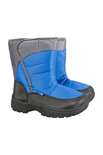 Mountain Warehouse Caribou Single Stripe Kids Snow Boot - Winter Shoe Blue 13 Child US