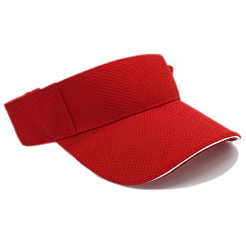 MOISTURE MANAGEMENT OUT DOOR SPORTS SUN VISORS, Quick Dry Hat (RED)