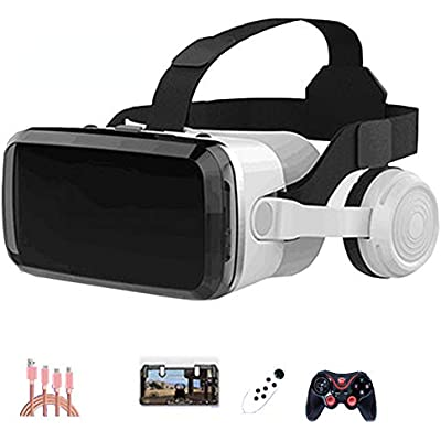 AYI glasses  Head-mounted Virtual reality glasses  Suitable for 3 5-6 0 inches iPhone Android Mobile phone Black Package4