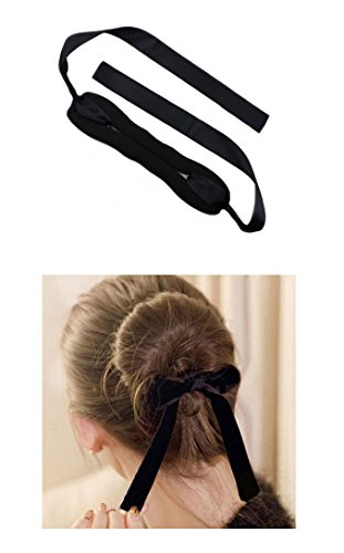 Price comparison product image iHome Fusion Handmade Magic Roll Ring French Twist Donut Hair Bun Ribbon Maker 2PCS (Small & Large) (Black)
