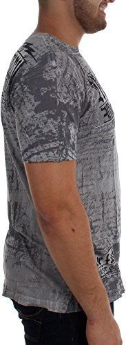 Affliction Tribe hombres Lava camiseta para Motor Silver p8pq6