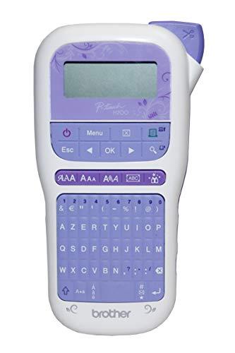 Brother PT-H200 - Etiquetadora portátil para Trabajos creativos y organización en el hogar (Incluye 1 Cinta TZe de 12 mm, 4 m), Color Dorado y Blanco