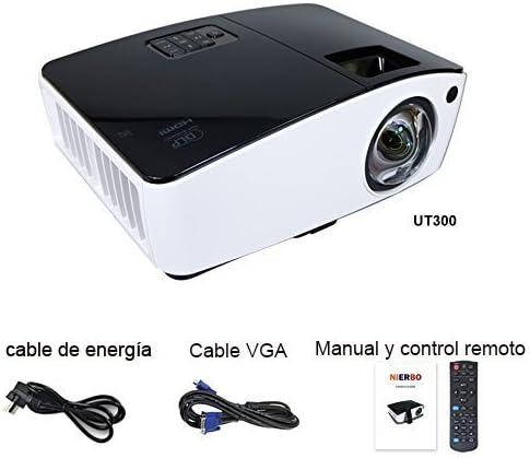 Corta distancia Proyector, nierbo Proyector de vídeo 3d DLP, Full ...