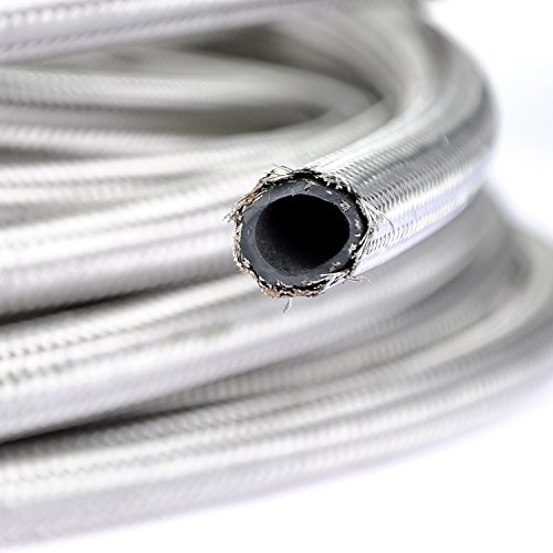 theBlueStone 10FT -6AN Stainless Steel Braided Fuel Line Hose for 3/8