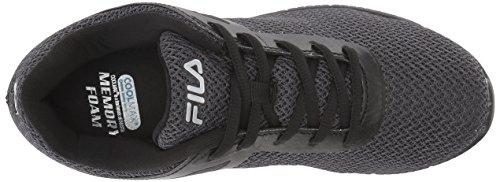Fila Womens Memory Skip Running Shoe Nero / Argento Scuro / Nero