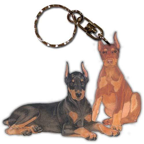 PIPS001 - Llavero de Doberman con diseño de Animales: Amazon ...