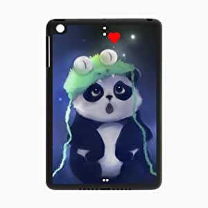 iPad Mini and iPad mini 2 Case,Cute Panda Cartoon And Red Heart High Definition Wonderful Design Cover With Hign Quality Rubber Plastic Protection Case